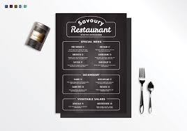 Restaurant Menu Design Templates Chalkboard Restaurant Menu Design Template In Psd Word Publisher