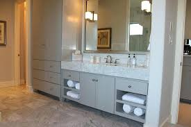 tall corner bathroom linen cabinet modern master bath cabinets in gray with doors and tall towel