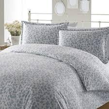 laura ashley leaves aqua flannel duvet cover set