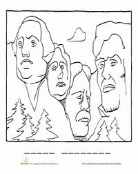Small Picture Mount Rushmore Coloring Page Mount rushmore Worksheets and
