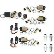 remote door poppers four door popper kit shaved handle 65 lb solenoids w 8 function remote 4 scta ss