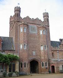 Gatehouse of Oxburgh Hall in Oxborough. Tudor style buildings ...