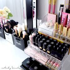 Muji acrylic makeup organizer for cosmetic storage -- 5 drawer storage for  magnetic palettes