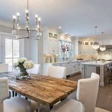 rustic white kitchens. White Kitchens Are Back! The New Kitchen: Grey Walls, French Doors, Salvaged Rustic Wood Dining Table, Or Kitchen Island, Ma\u2026
