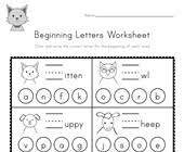 The activities can be used in kindergarten or 1st grade or for remedial work in other. Beginning Sounds Worksheets All Kids Network