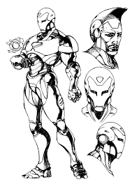 Small Picture Iron Man Coloring Pages Free Printable For Adult Super Heroes
