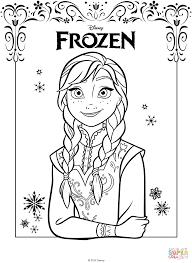 Disegno Di Anna Di Frozen Il Regno Di Ghiaccio Da Colorare