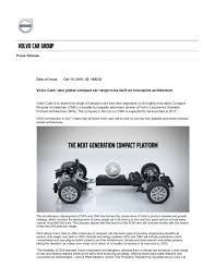 volvo new car releaseVolvo cma press release