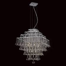 Impex Parma Square 6 Light Chrome Crystal Chandelier CFH301171/06/CH ...