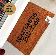 Namaste Bitches Printed Door Mat – Funky Yoga