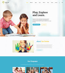 Kids School Website Template 6 Of The Best Education Bootstrap Templates For Daycare