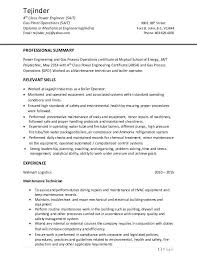 Power Plant Mechanical Engineer Resumes For 4th Engineer Resume Format Resume Engineering
