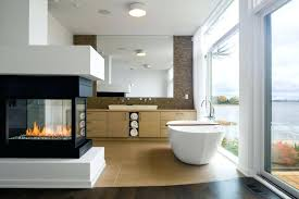 electric fireplace bathroom bathroom design with white oval bathtub and modern electric fireplace ideas bathroom designs electric fireplace bathroom