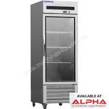 f e d gtr600g1 grand single glass door stainless steel display fridge with bottom unit 651litre