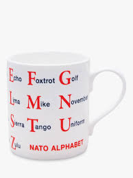 A phonetic script for english created in 1847 by isaac pitman and henry ellis was used as a model for the ipa. Mclaggan Smith Educational Nato Alphabet Mug 300ml At John Lewis Partners