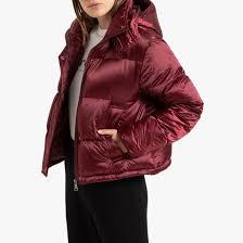 <b>Куртка</b> стеганая укороченная с капюшоном из ...