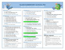 week at a glance calendar pta year at a glance calendar