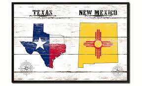 texas new mexico state flag gifts home decor wall art canvas