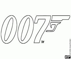 Kleurplaat Acdc Ausmalbilder Logo Der 007 James Bond Zum Ausdrucken