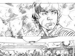 Drawn wars fight scene pencil and in color drawn wars fight scene