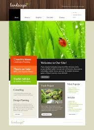 Landscape Website Designers Website Template 50092 Landscape Grass Clipper Custom