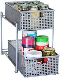 Under Sink Cabinet Sliding Basket Organizer Drawer