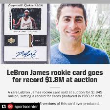Lebron james rookie cards are some of the most beloved of the modern era. Lebron James Cleveland Cavaliers Rookie Card Auctioned Off For Over 1 8 Million
