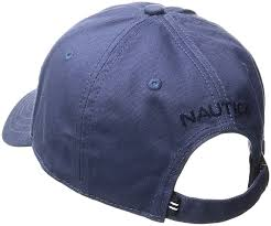 Nautica Men's Classic Logo Adjustable Baseball Cap Hat, Blue Indigo, One  Size at Amazon Men's Clothing store: