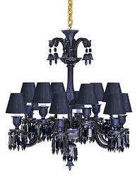 chandeliers combination of crystal and denim for luxury apartment