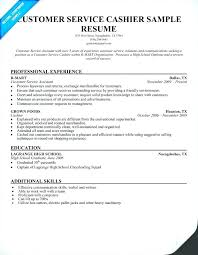 Customer Service Resume Skills Examples Best of Cashier On Resume Resume Ideas For Customer Service Resume Sample