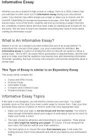 Informative Essays Examples How To Write An Informative Essay Writers Guide At Kingessays