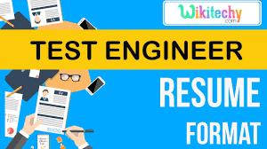 Resume Test Engineer Resume Sample Resume Resume Templates