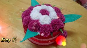 Paper Flower Bouquet Tutorial How To Make Easy Tissue Paper Flowers Diy Flower Bouquets