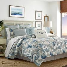 raw coast comforter set blue