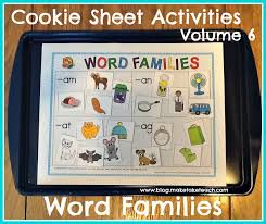 Word Families Template Cookie Sheet Activities Volume 6 Word Families Make Take