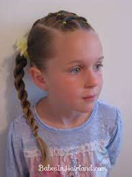 """And a """"spacey look"""" to tie the whole cute look together! haha. Criss Cross Ponies & Rope Braids (15). This is a fun one for a day when you have just a few ... - IMG_6164-criss-cross-twistsN"""
