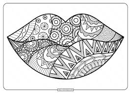 Show them the proper way how to color. Free Printable Zentangle Lips Pdf Coloring Page
