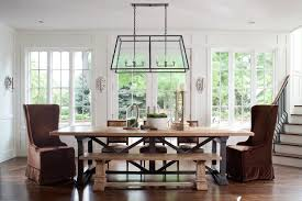 craftsman lighting dining room. craftsman dining benches room traditional with wood table incandescent pendant lights lighting l