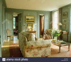 country living rooms. Perfect Rooms Floral Sofa In French Country Living Room With Graygreen Painted Walls To Country Living Rooms