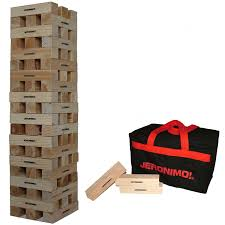 Wooden Brick Game Jeronimo Giant Wooden Tower In A Zipped Bag Amazoncouk Toys 46