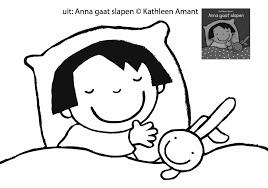 Kleurplaat Anna Gaat Slapen Wwwamantbe Jaley Onderwijs Anna