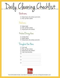 Household Chores Weekly Checklist Running A Daily Chore Prin