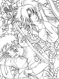 Coloriage Manga Naruto 46 Dessin