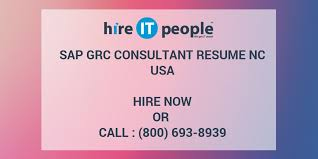 Sap Grc Consultant Resume Nc Hire It People We Get It Done