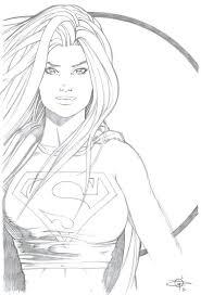Supergirl Con Sketch By Carl Riley Artdeviantartcom On At Deviantart