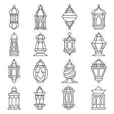 High resolution, royalty free lantern clip art by clipartof. Ramadan Lantern Set Islamic Lamp Or Light Muslim Traditional Ramadan Lantern Islamic Lantern Lantern Set