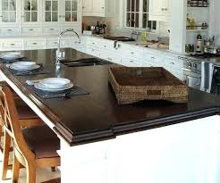 cool walnut 2 1 4 thick premium wide plank island brown home improvement ikea countertop review