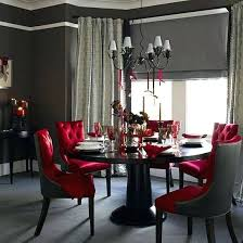 red upholstered dining room chairs. Dining Room Table Accents Tufted Upholstered Chairs In A Bright Red With . Accent Chair