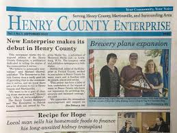 Patrick County newspaper The Enterprise expands into Martinsville Henry  County