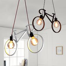 modern retro lighting. frled modern retro iron bicycle shape pendant lamp e27 holder ac 110240v foyer coffee lighting e